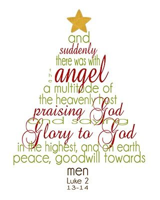 Free Printable Christmas Word Art: Luke 2.