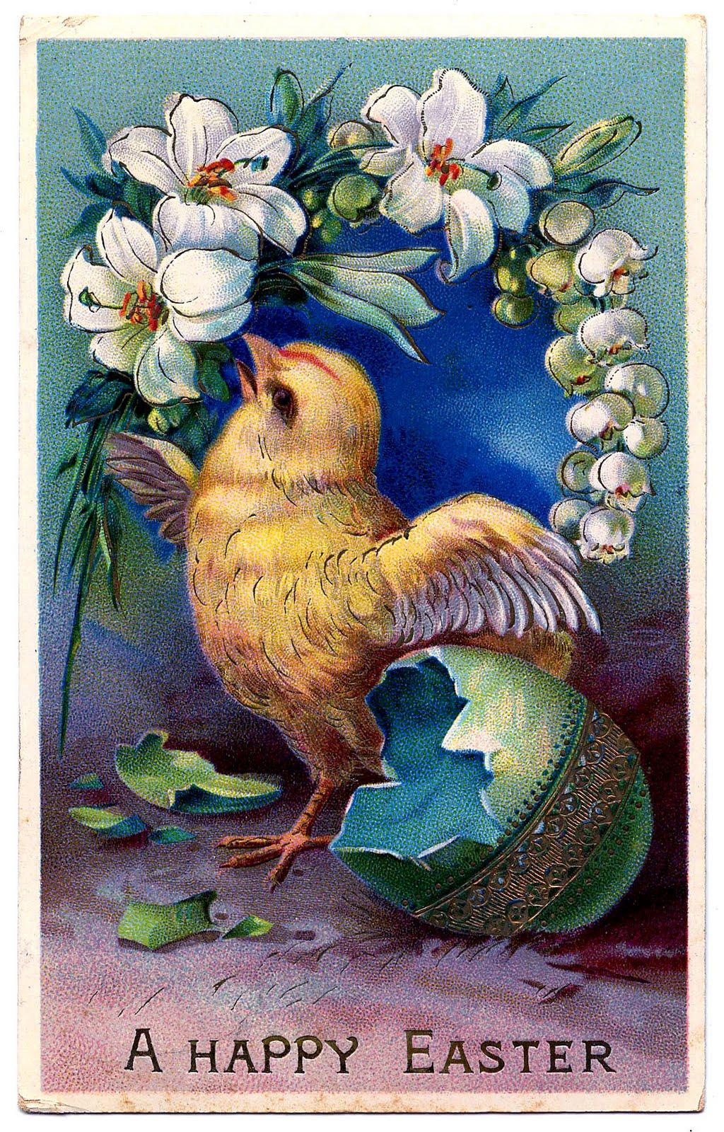 Vintage Easter Clip Art.