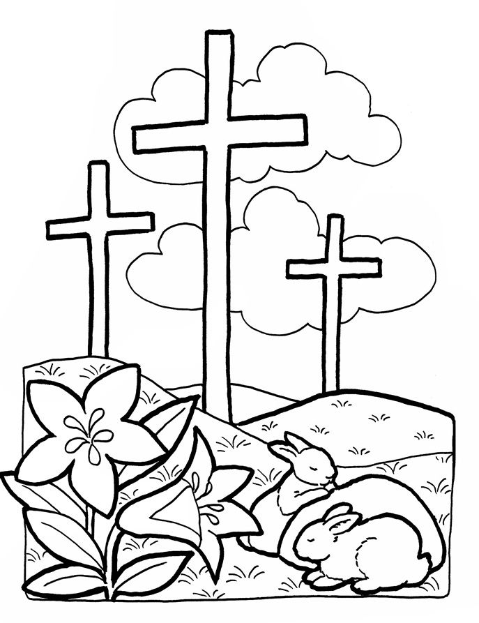 Religious Easter Clipart Black And White.