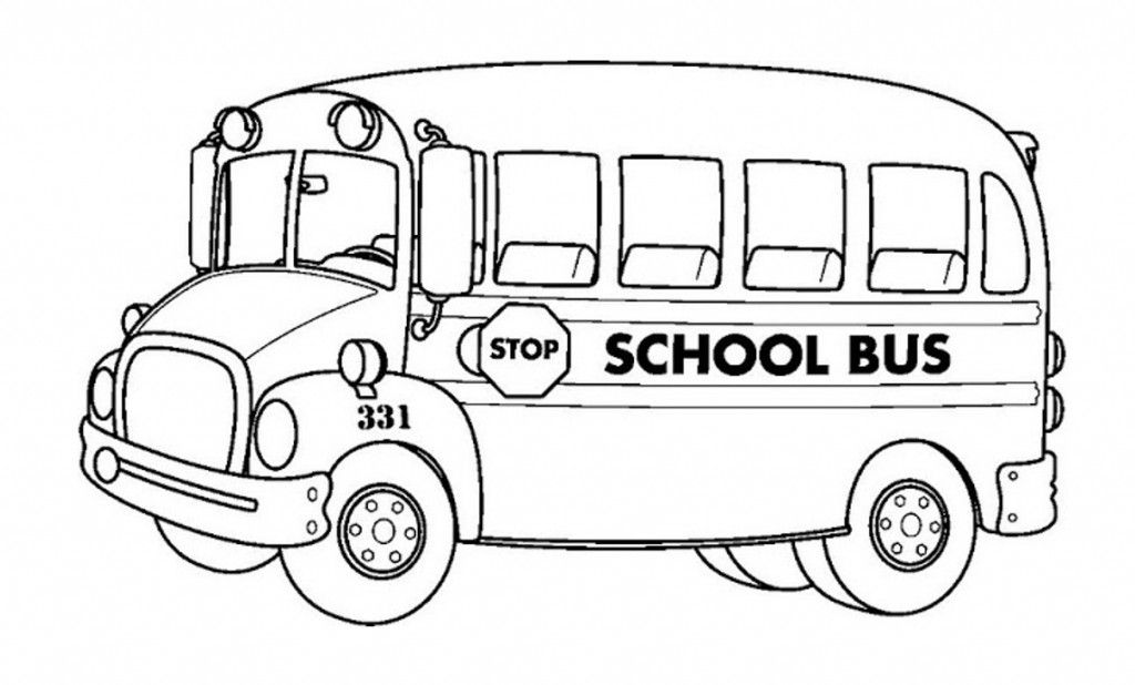 Free Printable School Bus Coloring Pages For Kids.