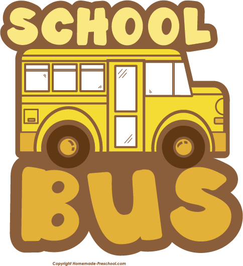 Free School Bus Clipart.
