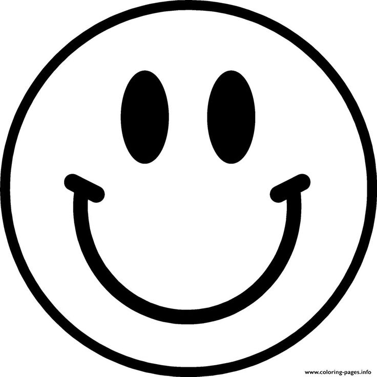 Happy Face Emoji Coloring Pages.