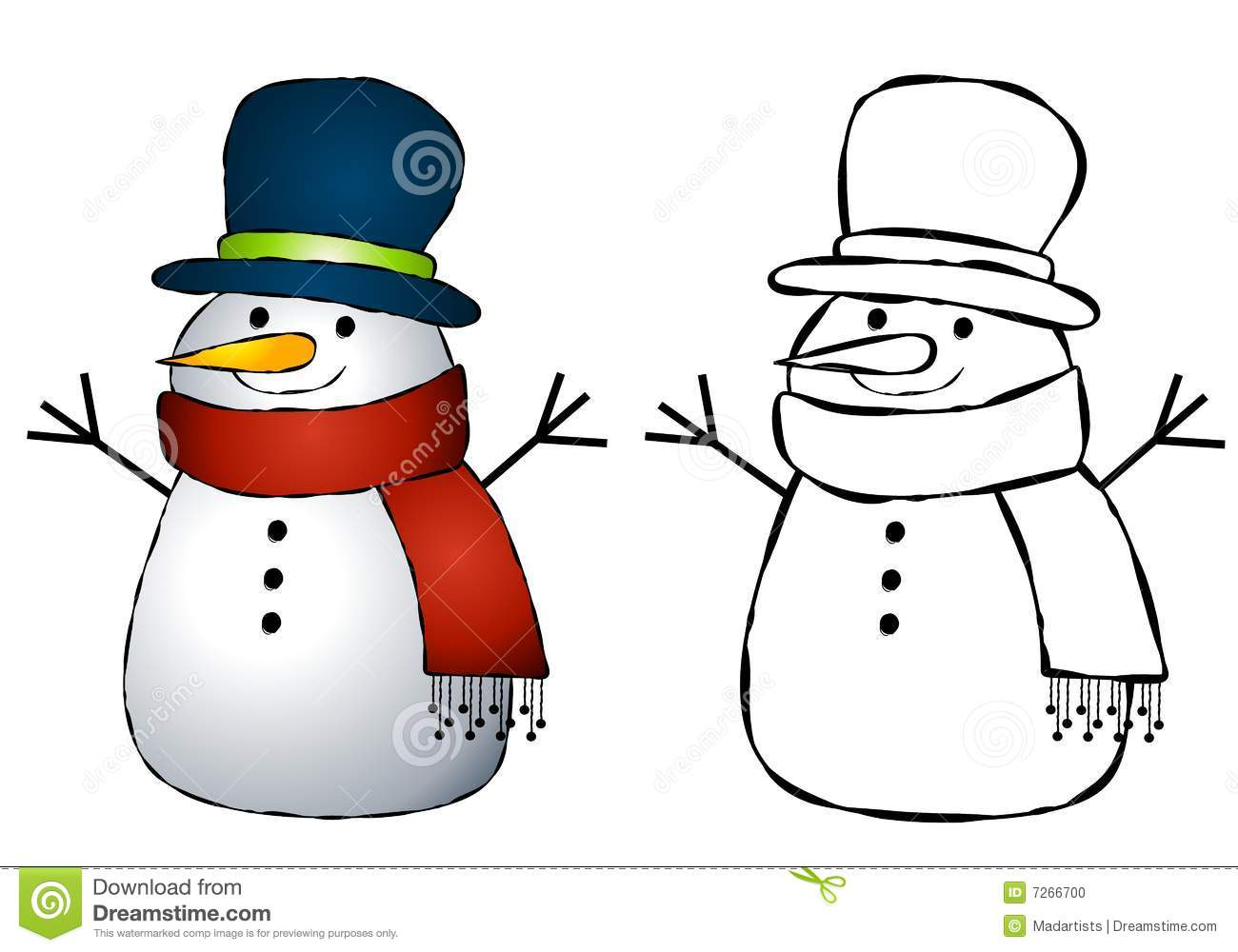 Free Snowman Images.