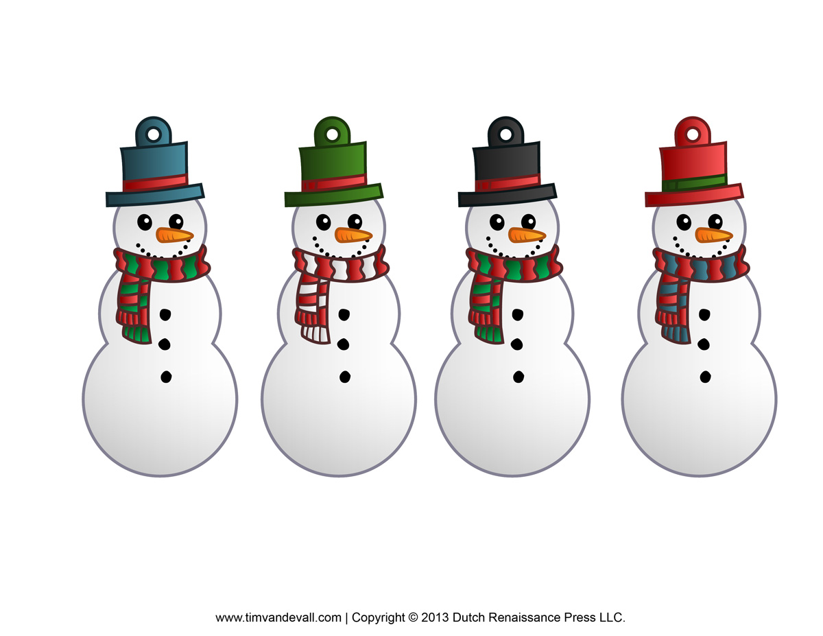 Free snowman clipart, template & printable coloring pages.