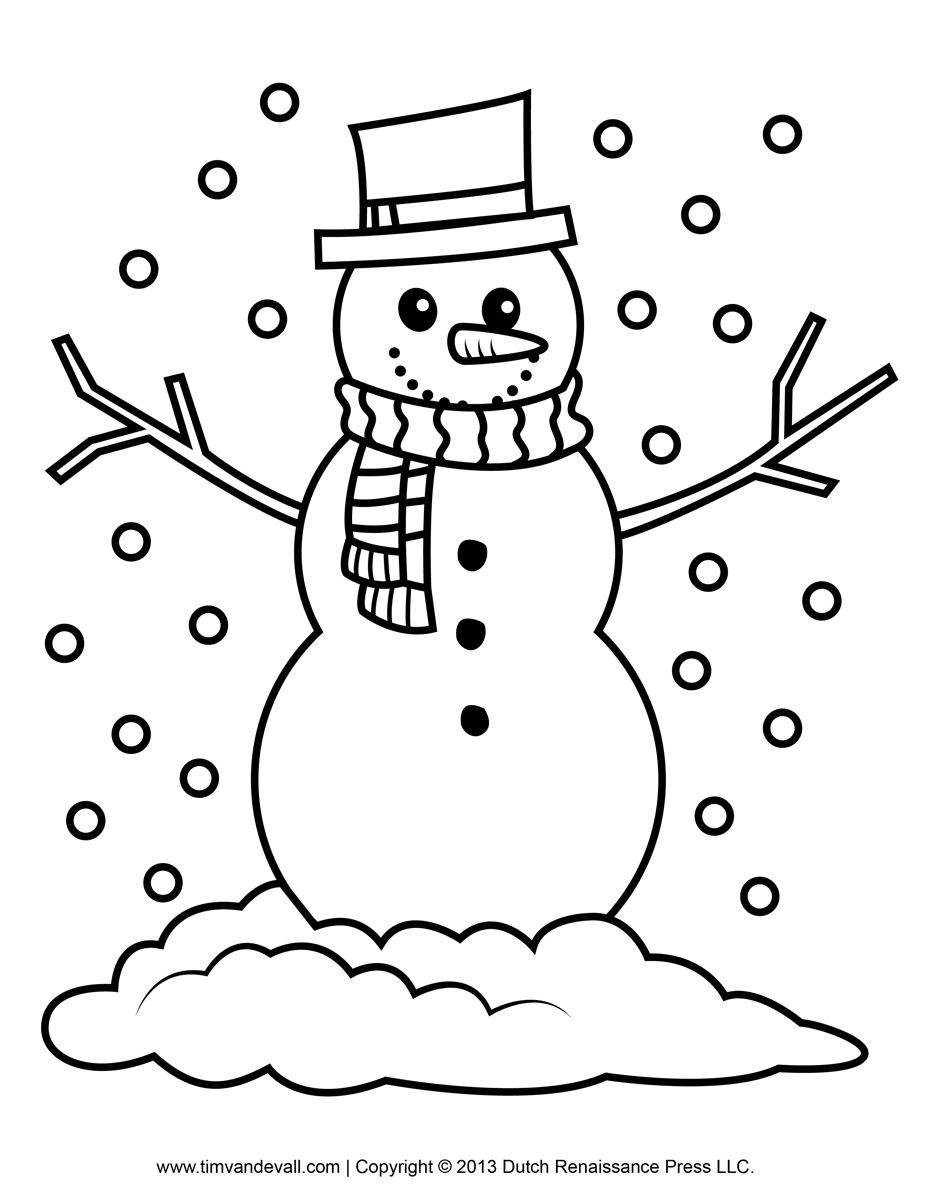 Snowman Pictures To Color.
