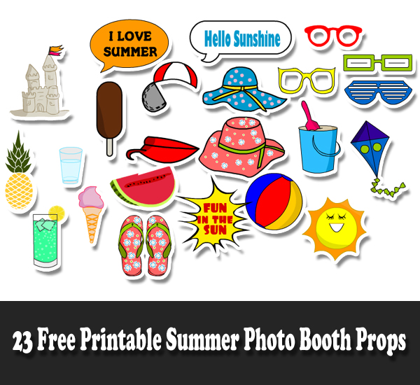 23 Free Printable Summer Photo Booth Props.