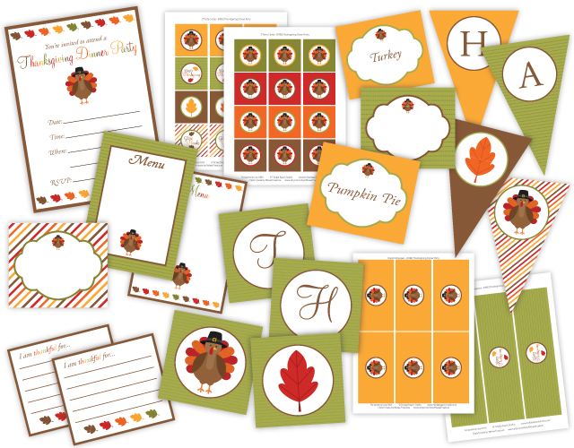 Giving Thanks Printables.