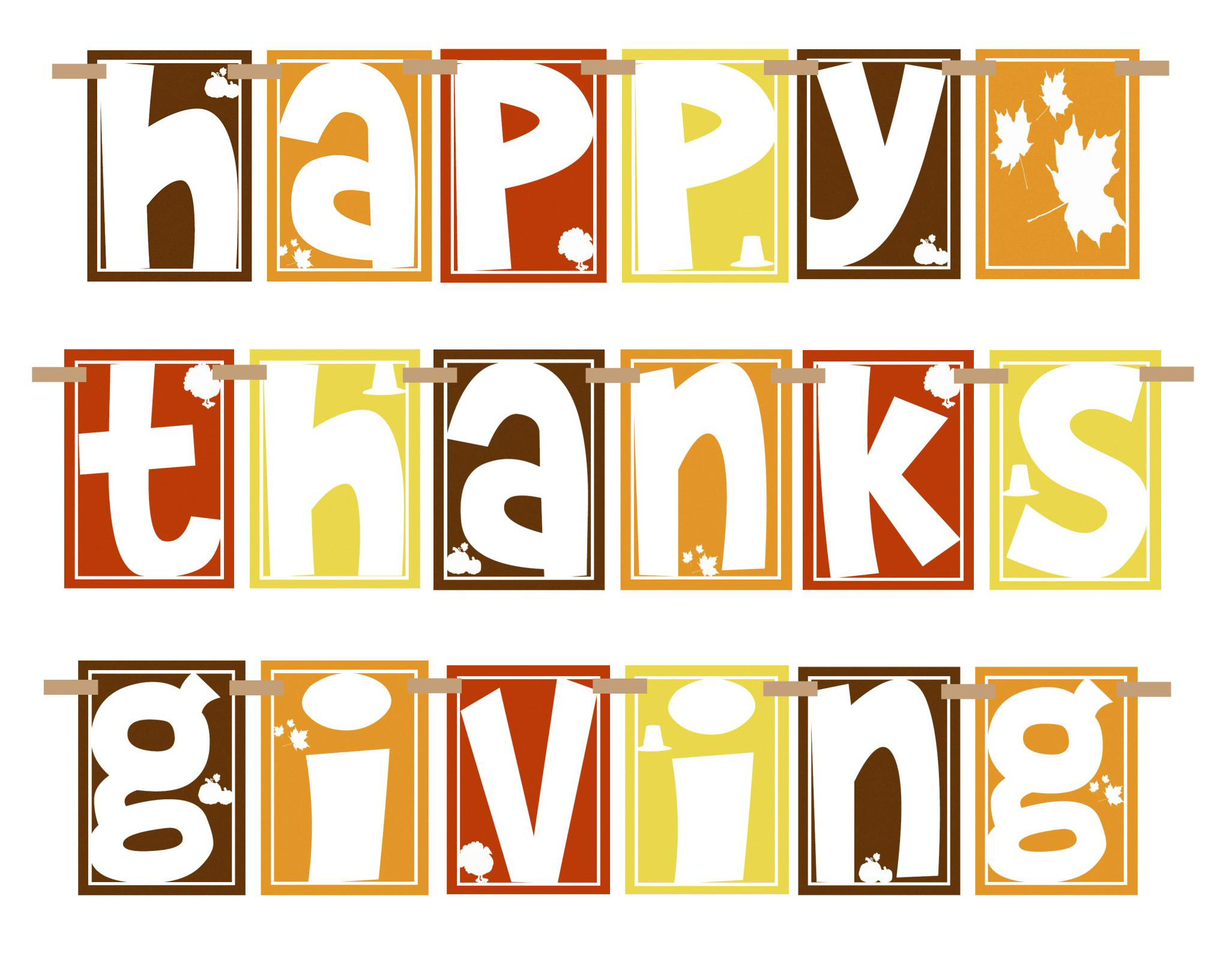 Free Printable Thanksgiving Clip Art.