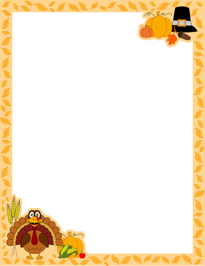 Free Printable Thanksgiving Clipart.