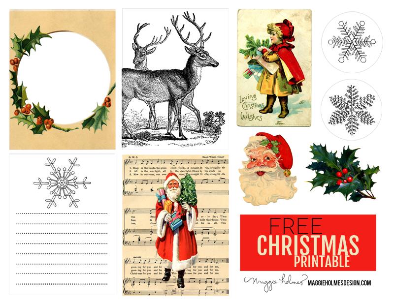 Free Christmas Printable & Vintage Christmas Clip Art » Maggie.