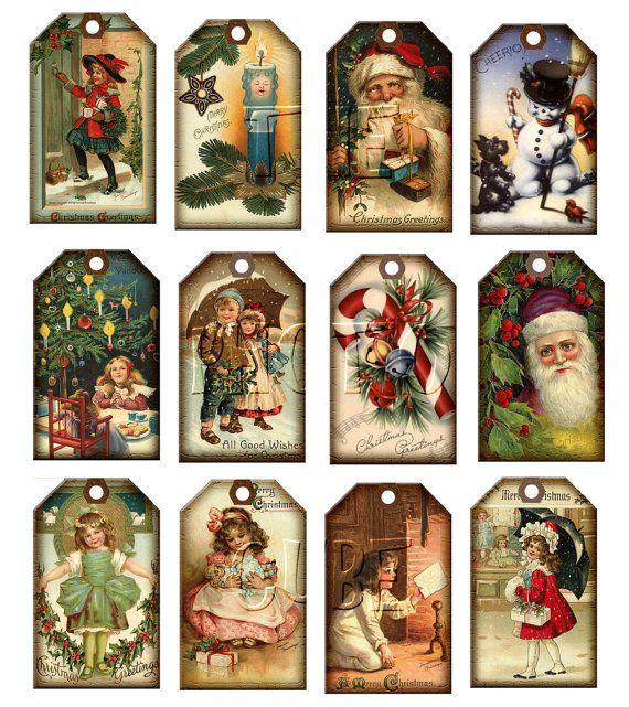 Christmas Vintage ArT Hang/Gift Tags.