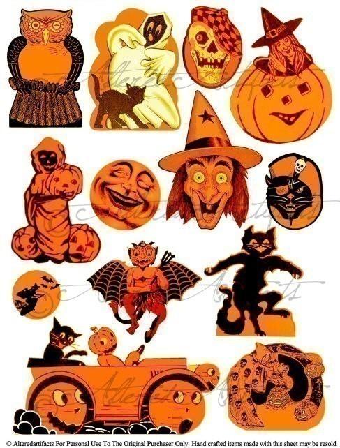 32+ Vintage Halloween Clipart.