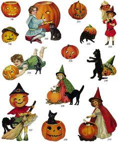 621 Vintage Halloween free clipart.