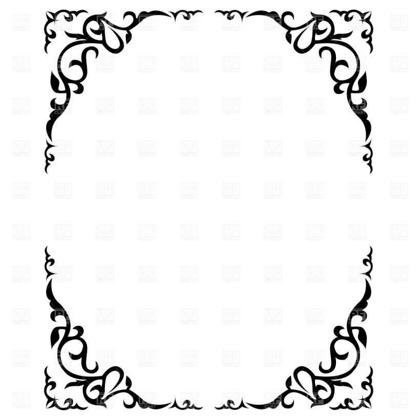 Free printable wedding clipart borders 6 » Clipart Portal.