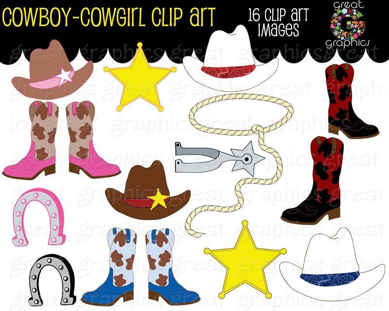 Cowboy Clipart Cowgirl Clip Art Digital Clip Art Pink.