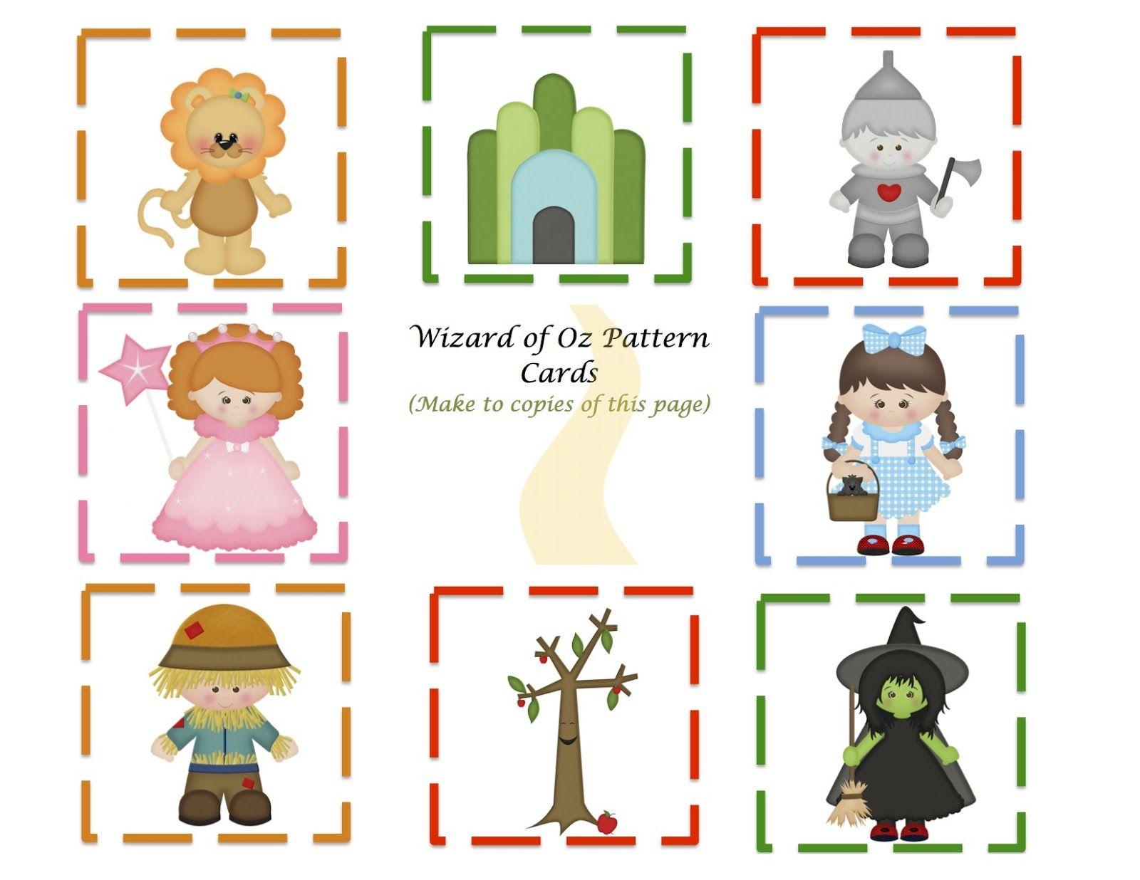 Preschool Printables: Wizard of Oz Mini Printable.