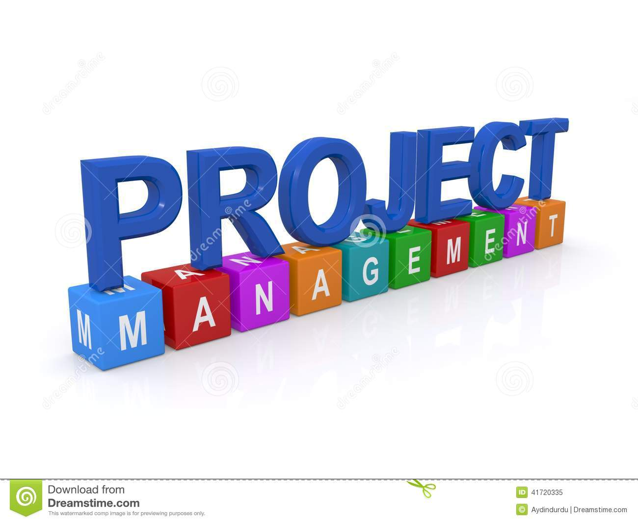 Project management sign stock illustration. Illustration of.