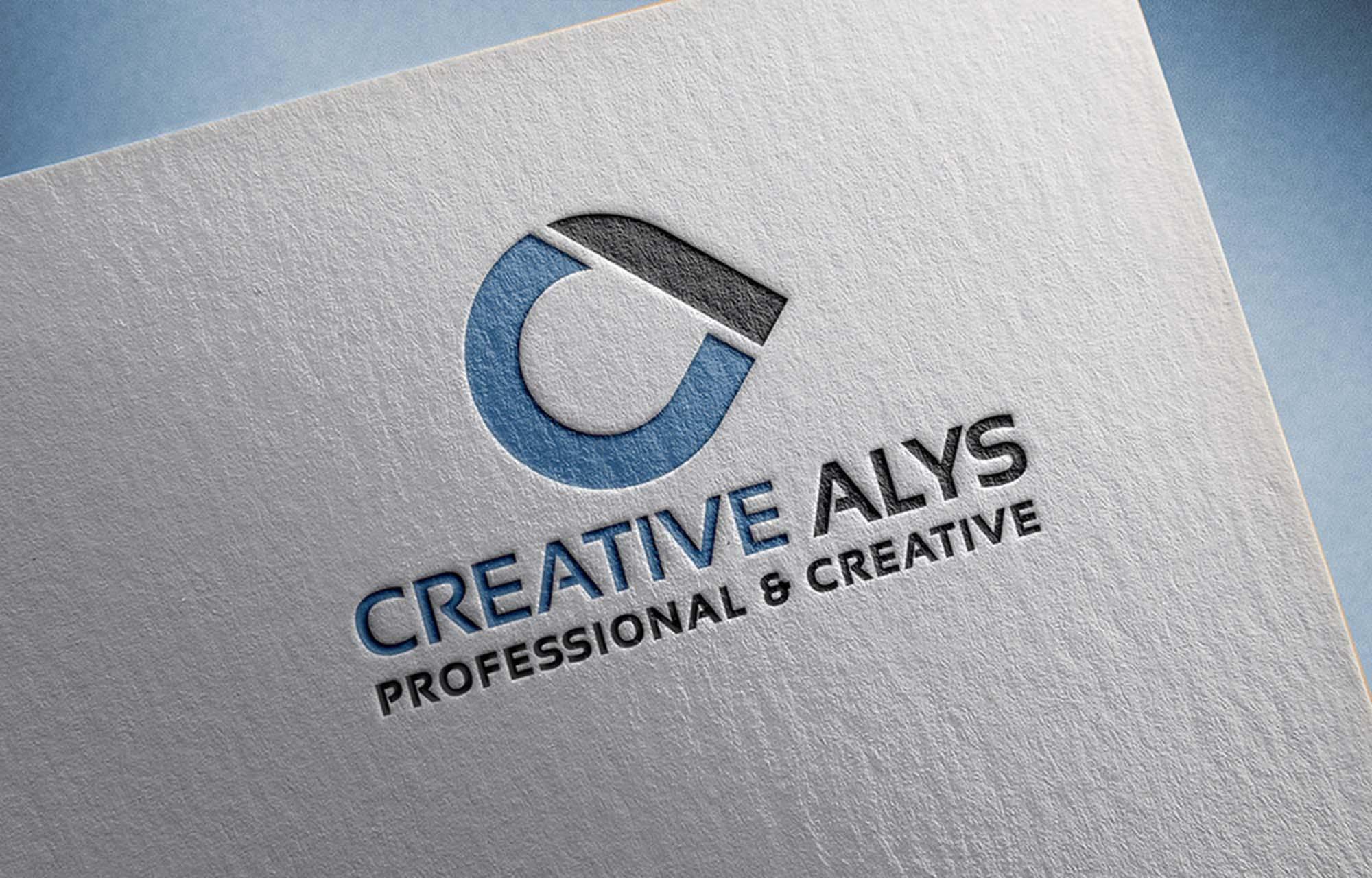 Free Paper Pressed Logo Mockup (PSD).