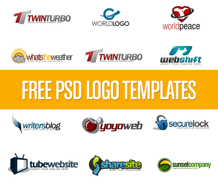 Download Free PSD Logo Templates.
