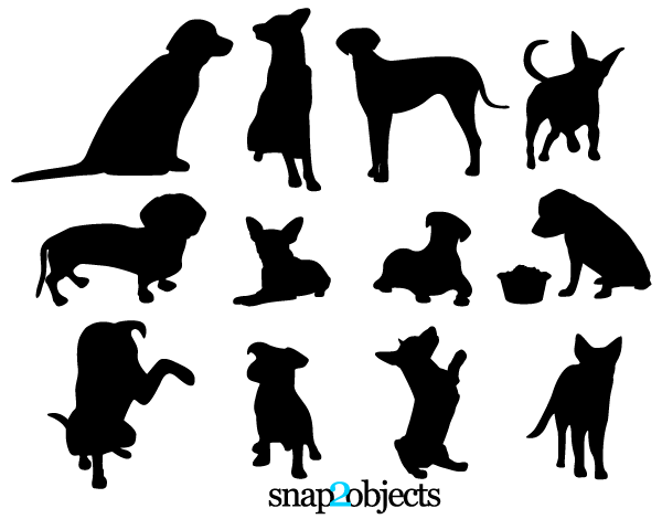 Pets Silhouettes: 13 Dog Vector Silhouettes free download.. More.