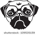 Pug Dog Free Vector Art.