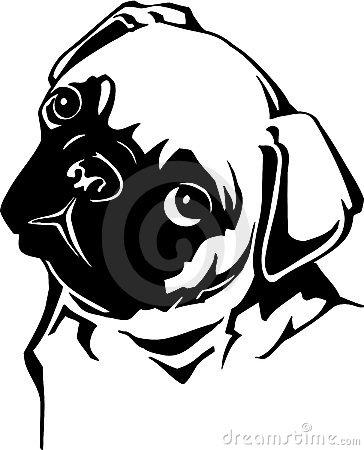 Pug Silhouette Clipart#2137952.