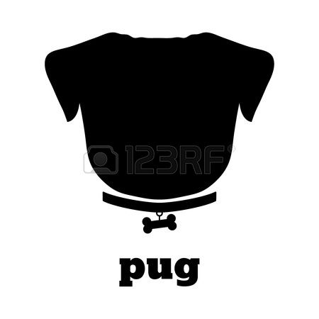 435 Pug Silhouette Stock Illustrations, Cliparts And Royalty Free.