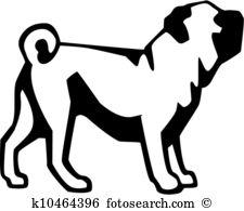 Pug Clip Art EPS Images. 906 pug clipart vector illustrations.