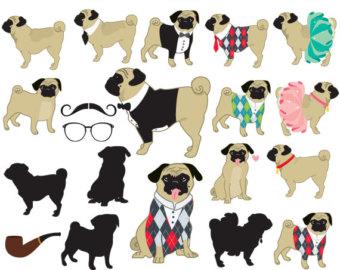 Pug Clip Art.