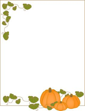Pumpkin frame border paper or label..