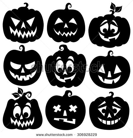 Pumpkin Silhouette Stock Images, Royalty.