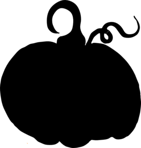 Pumpkin Sihouette Clip Art at Clker.com.
