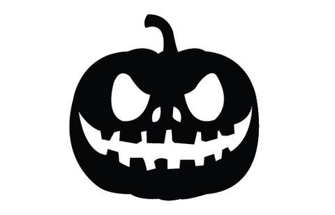 Pumpkin silhouette vectors.