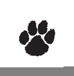 Puppy Paw Print Clipart.