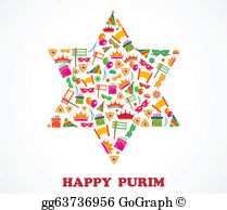 Purim Clip Art.