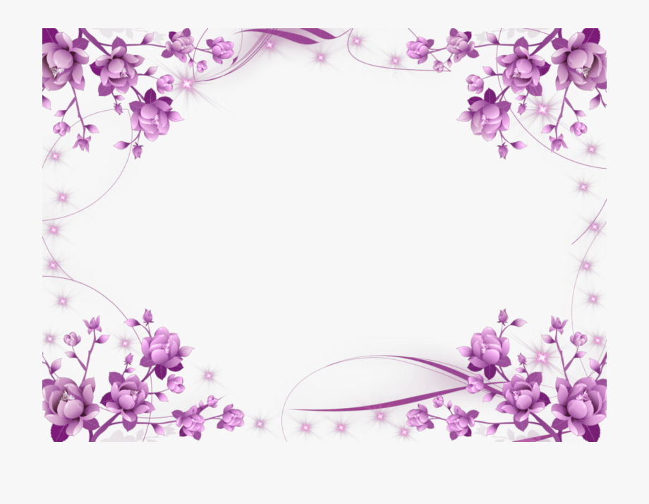 Purple Flower Border Clipart Free Techflourish Collections.