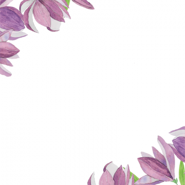 Purple Flower Border Png, Vector, PSD, and Clipart With Transparent.