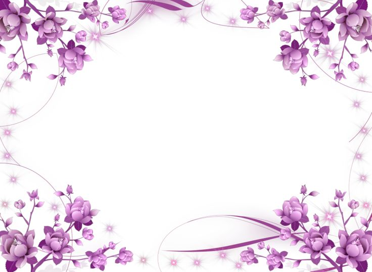 Free Purple Flower Border Png, Download Free Clip Art, Free Clip Art.