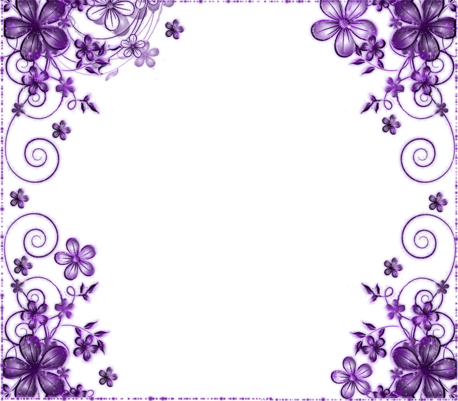 Purple flower borders clipart images gallery for free download.