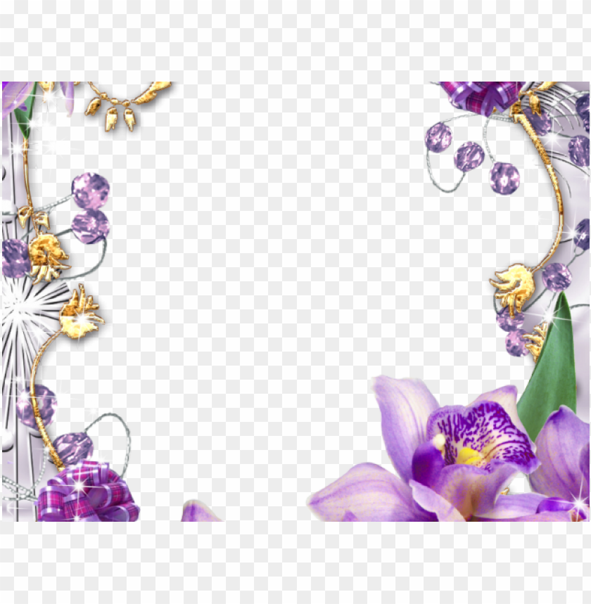 flowers borders clipart violet flower.
