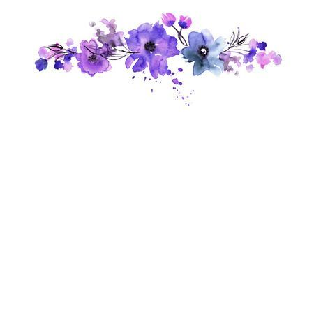 Download Free png Purple flower border clipart 5 » Clipart.
