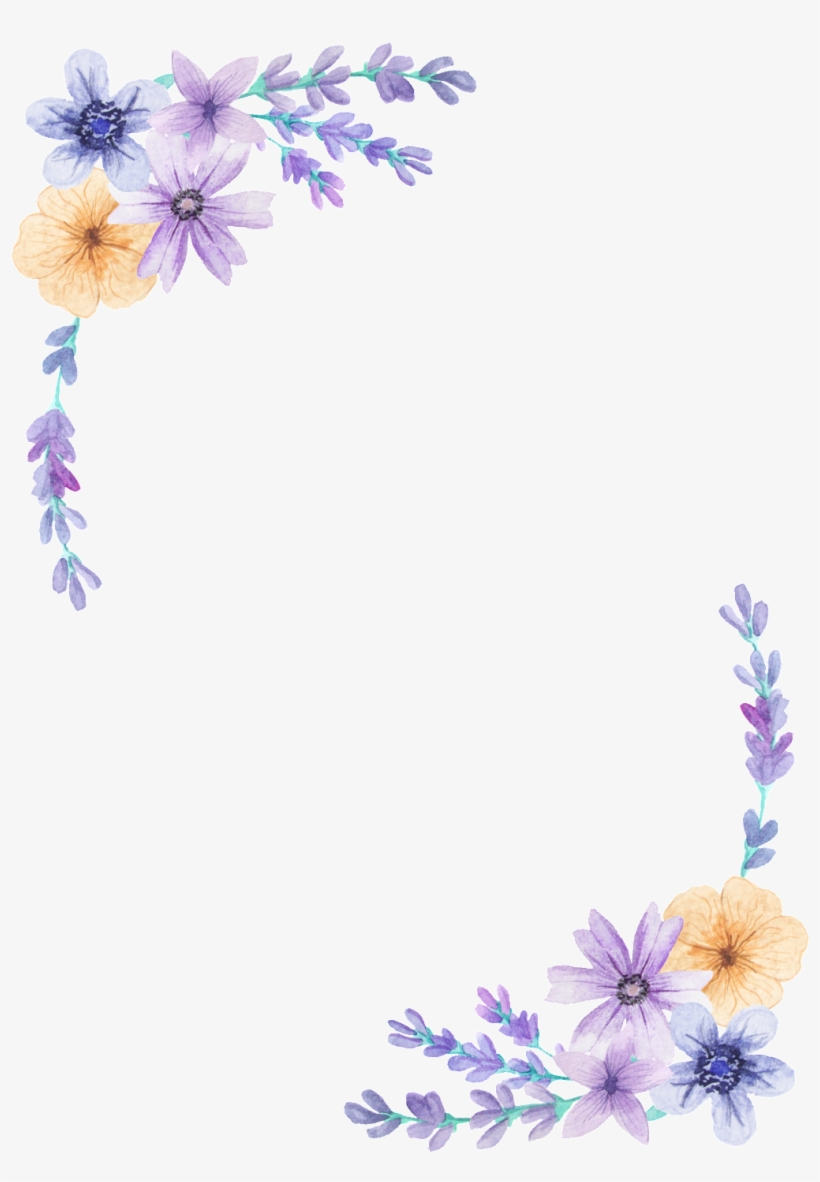 Purple Flower Clipart Decorative.