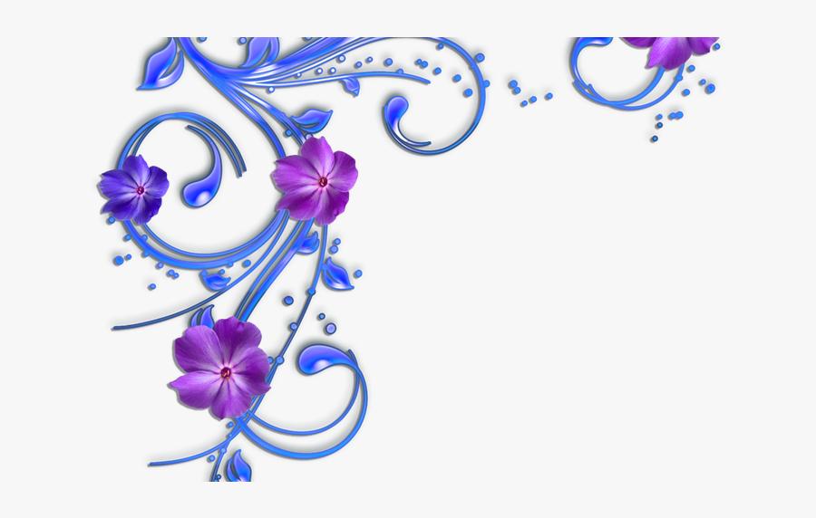 Blue Flower Corner Borders.
