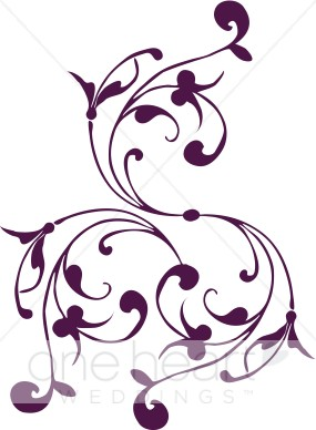 Purple Wedding Clip Art.