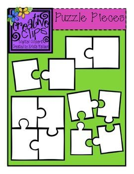 Free} Puzzle Piece Templates {Creative Clips Digital Clipart.