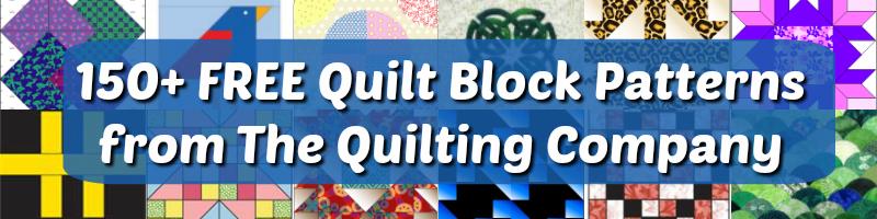 150+ Free Quilt Block Patterns.