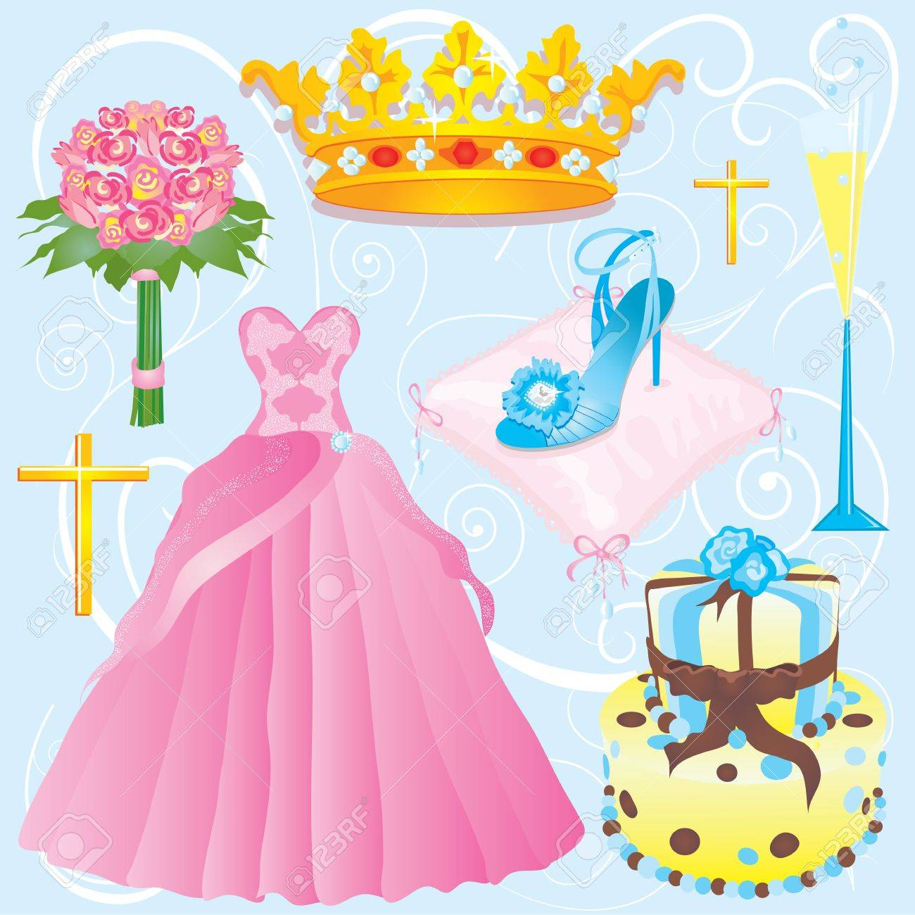 Quinceanera clip art or invitation for your party.