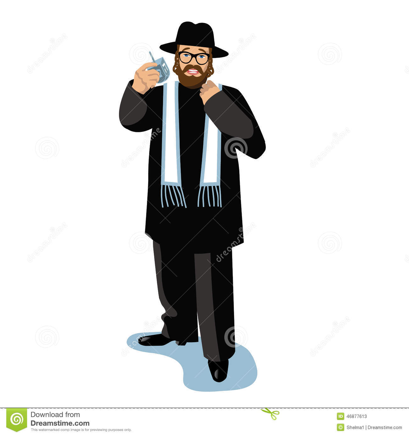 Rabbis Man Hugging Colourful Clipart.