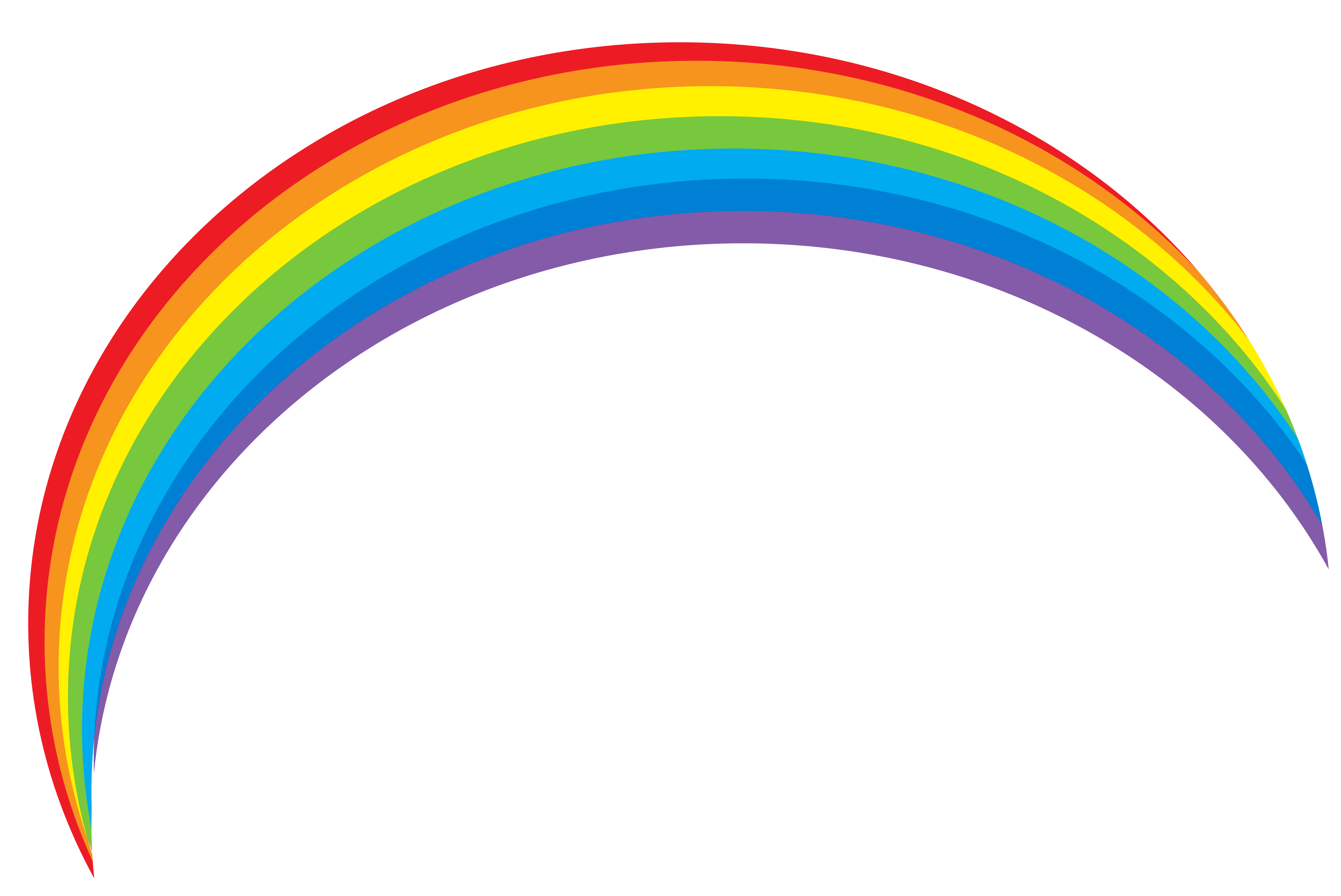 Transparent Rainbow Clipart.