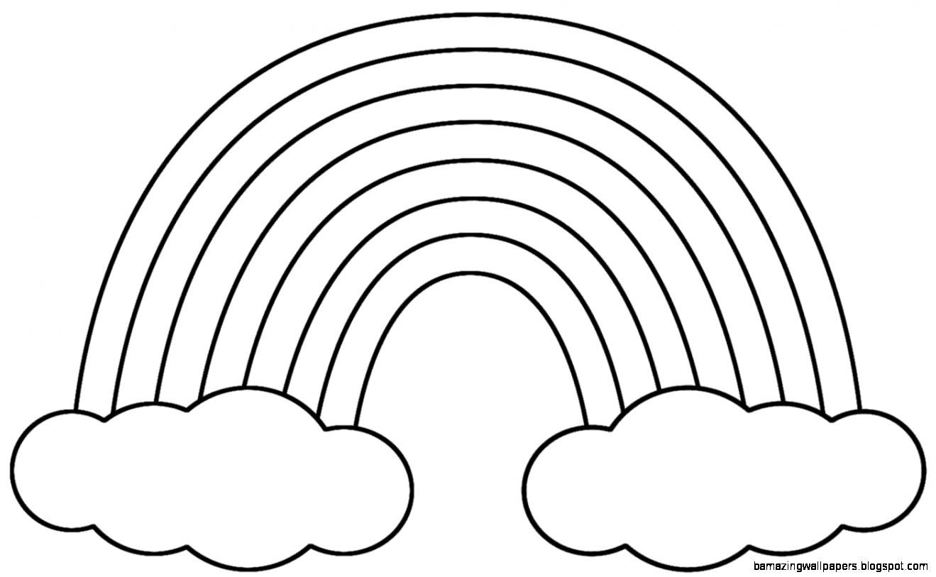Free rainbow clipart black and white » Clipart Portal.